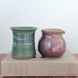 Beautiful Handmade Stoneware Jars - 2x